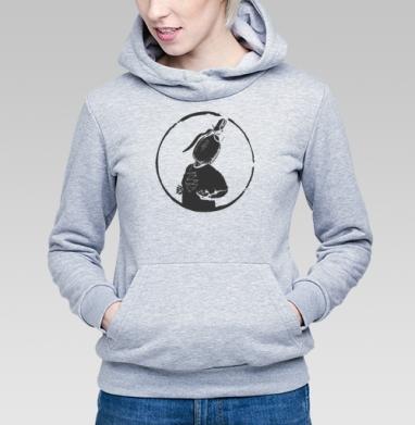 ЦДА, Толстовка Женская серый меланж 340гр, теплая