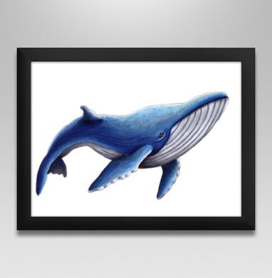 Синий кит, Постер в чёрной раме