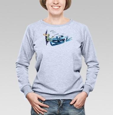 Русалка на ветвях - Купить женские свитшоты с природой в Москве, цена женских свитшотов с природой  с прикольными принтами - магазин дизайнерской одежды MaryJane