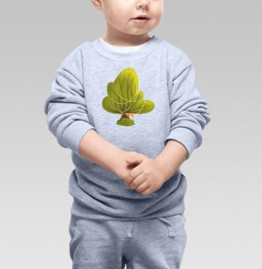 Дуб зеленый - Купить детские свитшоты с природой в Москве, цена детских свитшотов с природой  с прикольными принтами - магазин дизайнерской одежды MaryJane