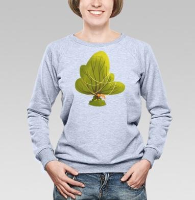 Дуб зеленый - Купить женские свитшоты с природой в Москве, цена женских свитшотов с природой  с прикольными принтами - магазин дизайнерской одежды MaryJane