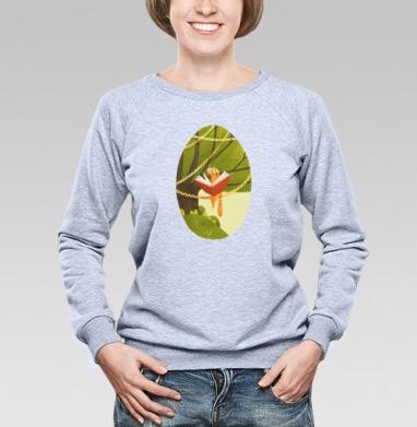 Кот на дереве - Купить женские свитшоты с природой в Москве, цена женских свитшотов с природой  с прикольными принтами - магазин дизайнерской одежды MaryJane