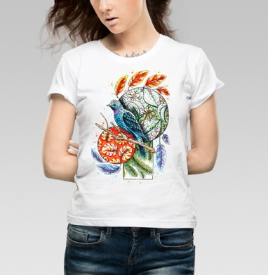 Бирюзовая котинга - Купить детские футболки с узорами в Москве, цена детских футболок с узорами  с прикольными принтами - магазин дизайнерской одежды MaryJane