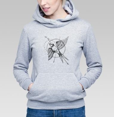 Ласточка в стиле тату - Купить детские толстовки с птицами в Москве, цена детских толстовок с птицами  с прикольными принтами - магазин дизайнерской одежды MaryJane