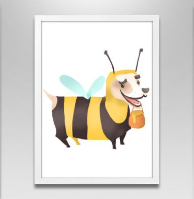 Пчелопёс - Постер в белой раме, собаки