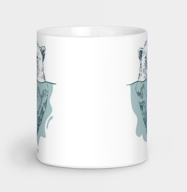 Полярный медведь - Кружки с логотипом