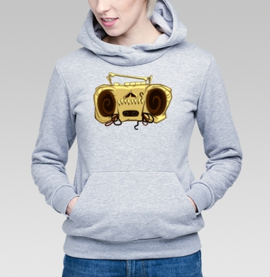 Череп магнитофона - Купить детские толстовки винтажные в Москве, цена детских толстовок винтажных  с прикольными принтами - магазин дизайнерской одежды MaryJane