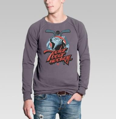 Свитшот мужской без капюшона тёмно-серый, тёмно-серый - Интернет магазин футболок №1 в Москве