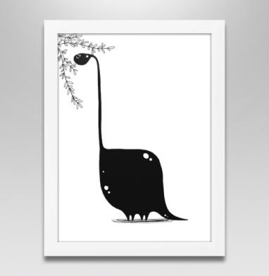 Динозавр в чб - Продажа картин в интернете