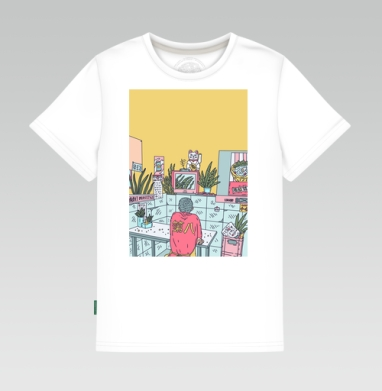 Азиатская закусочная, Детская футболка белая 160гр
