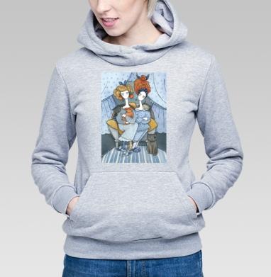 Подруги  два - Толстовка Женская серый меланж 340гр, теплая, Популярные