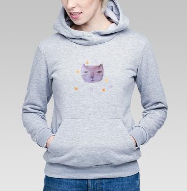 Котик и шары - Купить детские толстовки серые в Москве, цена детских толстовок серых с прикольными принтами - магазин дизайнерской одежды MaryJane