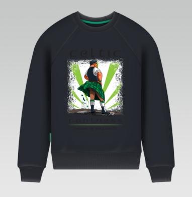 Кельтская свежесть - Свитшот мужской темн-синий 340гр, теплый, Популярные