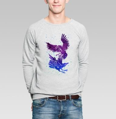 Вороны - Свитшот мужской серый-меланж  320гр, стандарт