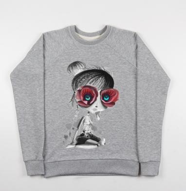 Цветов, принцесса - Купить детские свитшоты серые в Москве, цена детских свитшотов серых с прикольными принтами - магазин дизайнерской одежды MaryJane