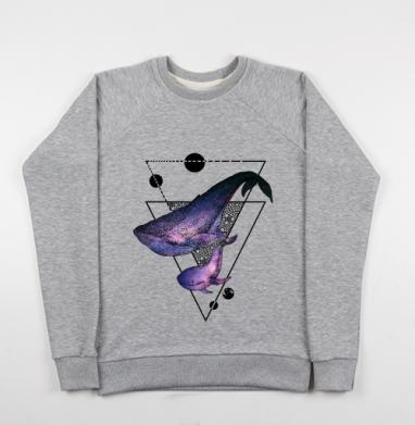 Китовая песня - Купить детские свитшоты с животными в Москве, цена детских свитшотов с животными  с прикольными принтами - магазин дизайнерской одежды MaryJane