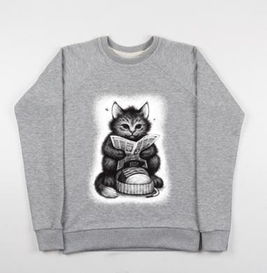Кот в ботинке - Купить детские свитшоты с кошками в Москве, цена детских свитшотов с кошками  с прикольными принтами - магазин дизайнерской одежды MaryJane