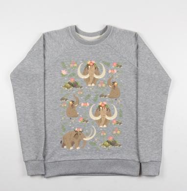 Мамонты - Купить детские свитшоты с природой в Москве, цена детских свитшотов с природой  с прикольными принтами - магазин дизайнерской одежды MaryJane