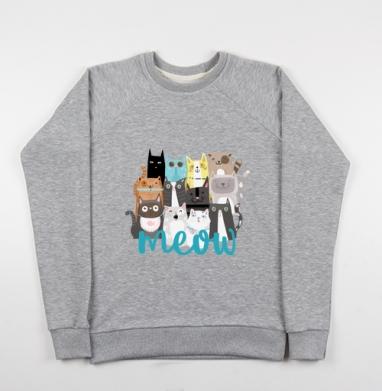 Многокотов - Купить детские свитшоты с кошками в Москве, цена детских свитшотов с кошками  с прикольными принтами - магазин дизайнерской одежды MaryJane