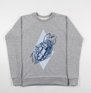 Моби Дик - Купить мужские свитшоты морские  в Москве, цена мужских свитшотов морских   с прикольными принтами - магазин дизайнерской одежды MaryJane