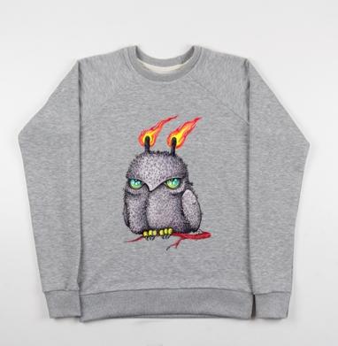 Огненная ночная сова - Купить детские свитшоты с птицами в Москве, цена детских свитшотов с птицами  с прикольными принтами - магазин дизайнерской одежды MaryJane