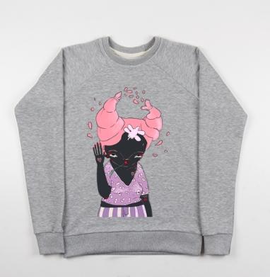 Она - Купить детские свитшоты с насекомыми в Москве, цена детских свитшотов с насекомыми  с прикольными принтами - магазин дизайнерской одежды MaryJane