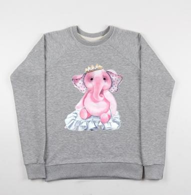 Pink elephant princess - Купить детские свитшоты милые в Москве, цена детских свитшотов милых  с прикольными принтами - магазин дизайнерской одежды MaryJane