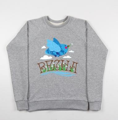 Птица весна - Купить детские свитшоты с надписями в Москве, цена детских свитшотов с надписями  с прикольными принтами - магазин дизайнерской одежды MaryJane