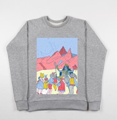 Розовые холмы - Купить детские свитшоты Пейзаж в Москве, цена детских свитшотов с пейзажем с прикольными принтами - магазин дизайнерской одежды MaryJane
