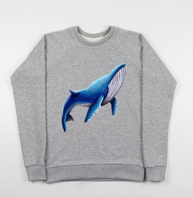 Синий кит - Купить детские свитшоты серые в Москве, цена детских свитшотов серых с прикольными принтами - магазин дизайнерской одежды MaryJane