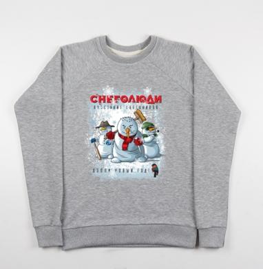 Снеголюди - Купить мужские свитшоты с надписями в Москве, цена мужских свитшотов с надписями  с прикольными принтами - магазин дизайнерской одежды MaryJane