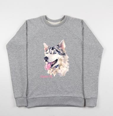 Собака хаски - Купить детские свитшоты милые в Москве, цена детских свитшотов милых  с прикольными принтами - магазин дизайнерской одежды MaryJane