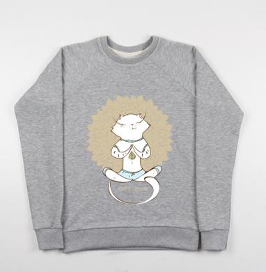 Йога котэ  - Купить детские свитшоты спортивные в Москве, цена детских свитшотов спортивных  с прикольными принтами - магазин дизайнерской одежды MaryJane