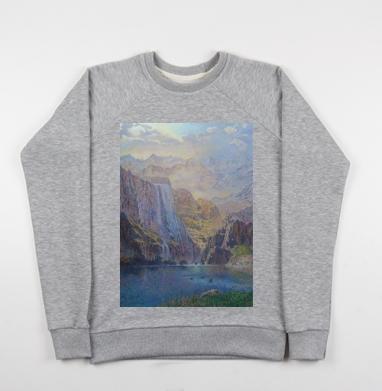 Замок в горах - Купить детские свитшоты с горами в Москве, цена детских свитшотов с горами с прикольными принтами - магазин дизайнерской одежды MaryJane