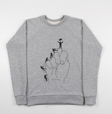 АЛЬПИНИСТЫ - Купить детские свитшоты с горами в Москве, цена детских свитшотов с горами с прикольными принтами - магазин дизайнерской одежды MaryJane