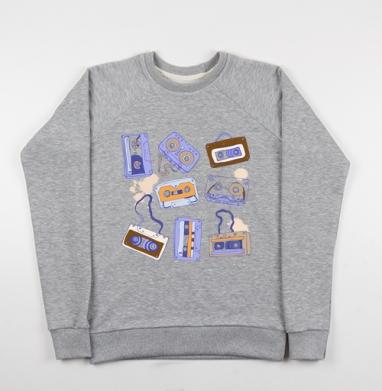 Аудио кассеты - Купить детские свитшоты ретро в Москве, цена детских свитшотов ретро  с прикольными принтами - магазин дизайнерской одежды MaryJane