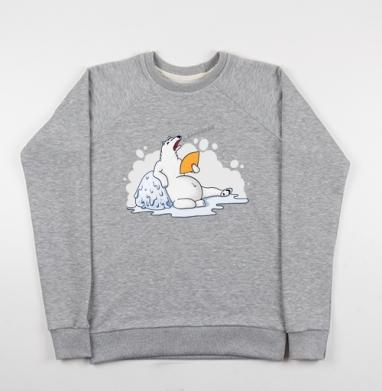 Белый медведь в теплую погоду - Купить детские свитшоты с цитатами в Москве, цена детских свитшотов с цитатами  с прикольными принтами - магазин дизайнерской одежды MaryJane