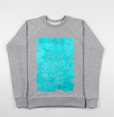 Бирюза минерал - Купить детские свитшоты красивые в Москве, цена детских свитшотов красивых  с прикольными принтами - магазин дизайнерской одежды MaryJane