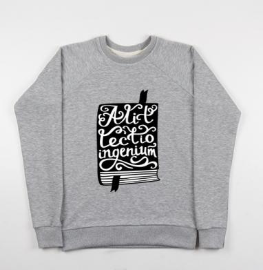 Чтение насыщает ум (латынь) - Купить детские свитшоты с цитатами в Москве, цена детских свитшотов с цитатами  с прикольными принтами - магазин дизайнерской одежды MaryJane