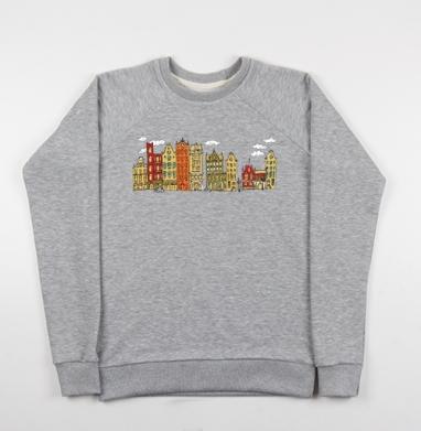 Цветной Амстердам - Купить детские свитшоты с городами в Москве, цена детских свитшотов с городами  с прикольными принтами - магазин дизайнерской одежды MaryJane