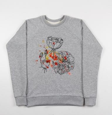 Цветочные брызги - Купить детские свитшоты романтика в Москве, цена детских свитшотов романтических  с прикольными принтами - магазин дизайнерской одежды MaryJane