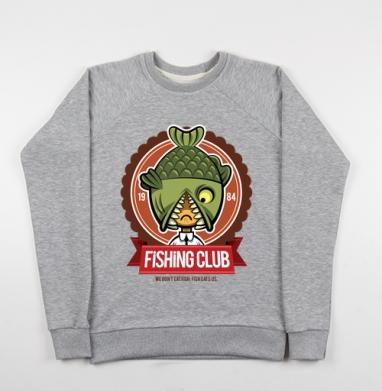 Fishing Club - Купить детские свитшоты морские  в Москве, цена детских свитшотов морских   с прикольными принтами - магазин дизайнерской одежды MaryJane