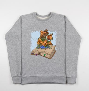 Книга про грибы - Купить детские свитшоты с насекомыми в Москве, цена детских свитшотов с насекомыми  с прикольными принтами - магазин дизайнерской одежды MaryJane