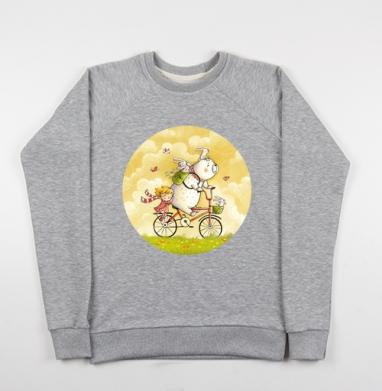 Лето - Купить детские свитшоты с велосипедом в Москве, цена детских свитшотов с велосипедом с прикольными принтами - магазин дизайнерской одежды MaryJane