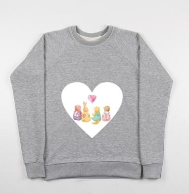Милые звери. Любовь - Купить детские свитшоты с илюстрациями в Москве, цена детских свитшотов с илюстрациями  с прикольными принтами - магазин дизайнерской одежды MaryJane