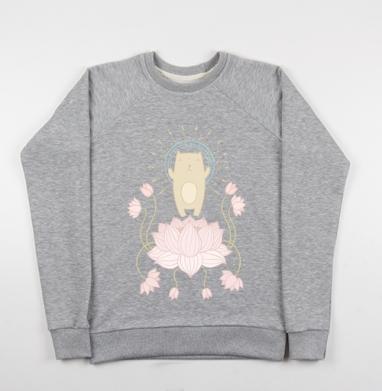 Просветление котика - Купить детские свитшоты с йогой в Москве, цена детских свитшотов с йогой  с прикольными принтами - магазин дизайнерской одежды MaryJane