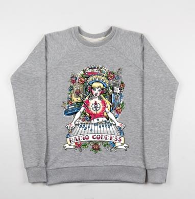 Радио Богиня - Купить детские свитшоты Россия в Москве, цена детских свитшотов Россия  с прикольными принтами - магазин дизайнерской одежды MaryJane