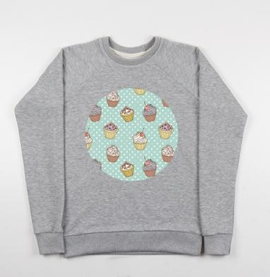 Retro cakes pattern - Купить детские свитшоты ретро в Москве, цена детских свитшотов ретро  с прикольными принтами - магазин дизайнерской одежды MaryJane