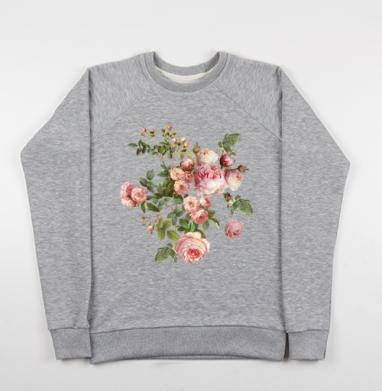 Розовые розы на черном фоне - Купить детские свитшоты с роами в Москве, цена детских свитшотов с розой с прикольными принтами - магазин дизайнерской одежды MaryJane