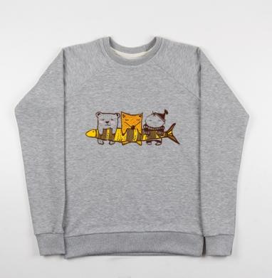 Рыбачки - Купить детские свитшоты с людьми в Москве, цена детских свитшотов с людьми  с прикольными принтами - магазин дизайнерской одежды MaryJane
